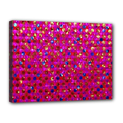 Polka Dot Sparkley Jewels 1 Canvas 16  X 12  (framed) by MedusArt