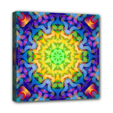 Psychedelic Abstract Mini Canvas 8  X 8  (framed) by Colorfulplayground