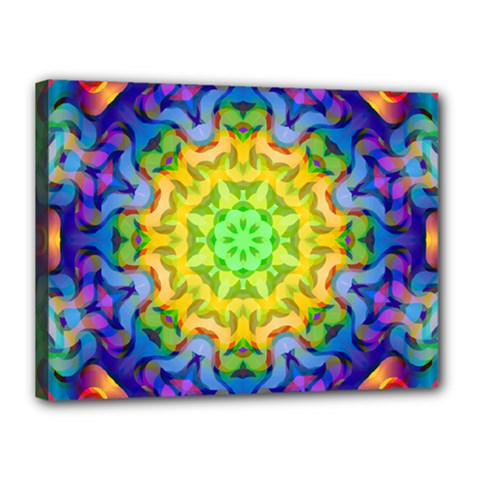 Psychedelic Abstract Canvas 16  X 12  (framed) by Colorfulplayground