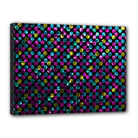 Polka Dot Sparkley Jewels 2 Canvas 16  X 12  (framed) by MedusArt