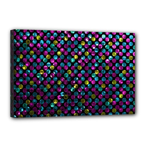 Polka Dot Sparkley Jewels 2 Canvas 18  X 12  (framed) by MedusArt