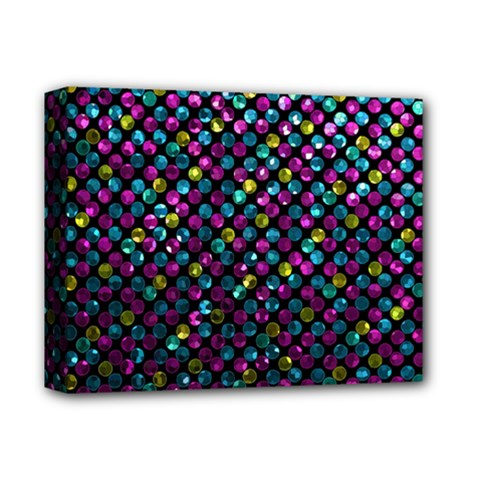Polka Dot Sparkley Jewels 2 Deluxe Canvas 14  X 11  (framed) by MedusArt