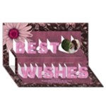 Loving 3D Best Wishes card - Best Wish 3D Greeting Card (8x4)
