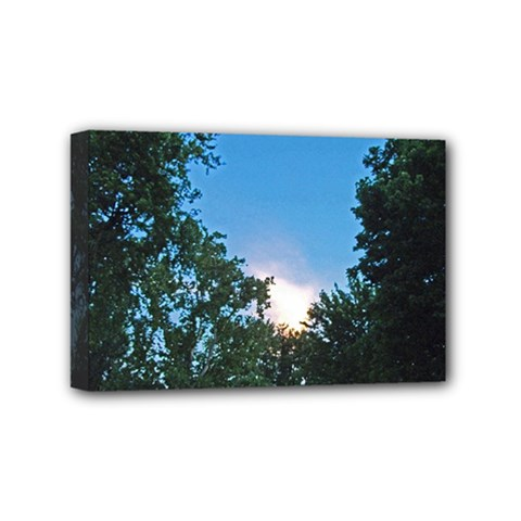 Coming Sunset Accented Edges Mini Canvas 6  X 4  (framed)