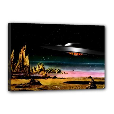 Altair Iv Canvas 18  X 12  (framed) by neetorama