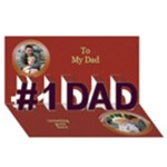 My Dad 3D Greeting Card - #1 DAD 3D Greeting Card (8x4)