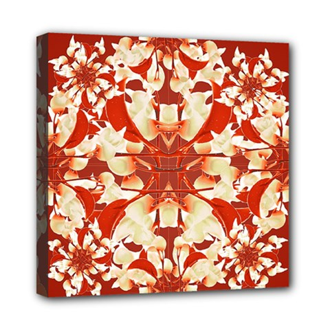 Digital Decorative Ornament Artwork Mini Canvas 8  X 8  (framed) by dflcprints