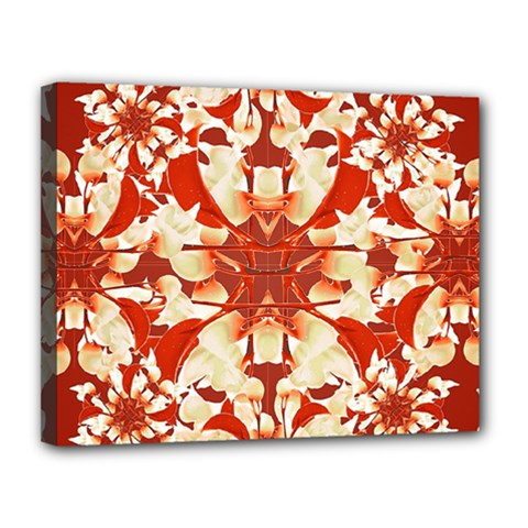 Digital Decorative Ornament Artwork Canvas 14  X 11  (framed) by dflcprints