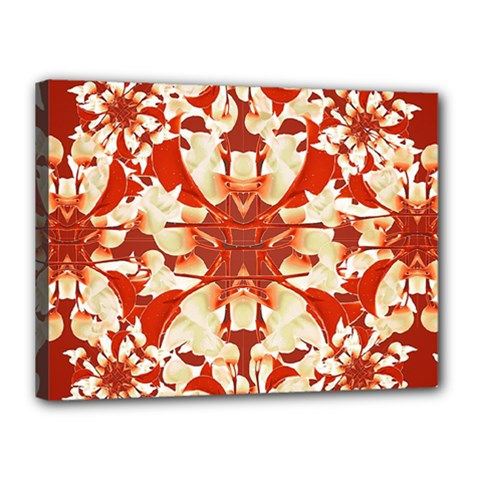 Digital Decorative Ornament Artwork Canvas 16  X 12  (framed) by dflcprints