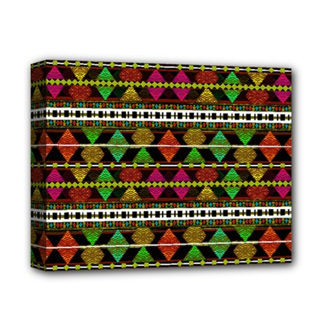 Aztec Style Pattern Deluxe Canvas 14  X 11  (framed)