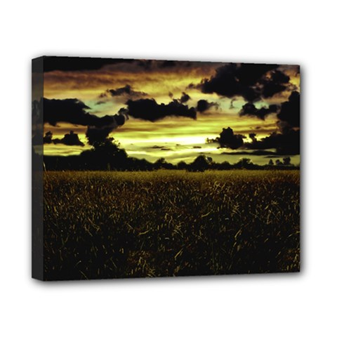 Dark Meadow Landscape  Canvas 10  X 8  (framed) by dflcprints