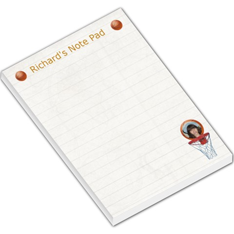 Basketball Large Memo Pad By Kim Blair   Large Memo Pads   Ktim5oph652s   Www Artscow Com