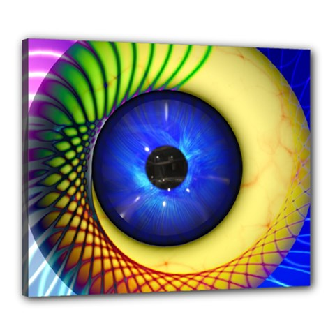 Eerie Psychedelic Eye Canvas 24  X 20  (framed) by StuffOrSomething