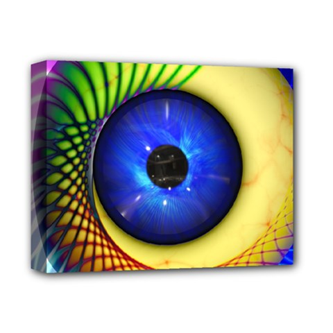 Eerie Psychedelic Eye Deluxe Canvas 14  X 11  (framed) by StuffOrSomething
