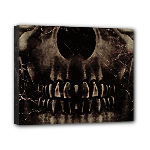 Skull Poster Background Canvas 10  X 8  (framed) by dflcprints