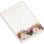 Butterflies  and Flowers Large Memo Pad with Lined Paper - Large Memo Pads
