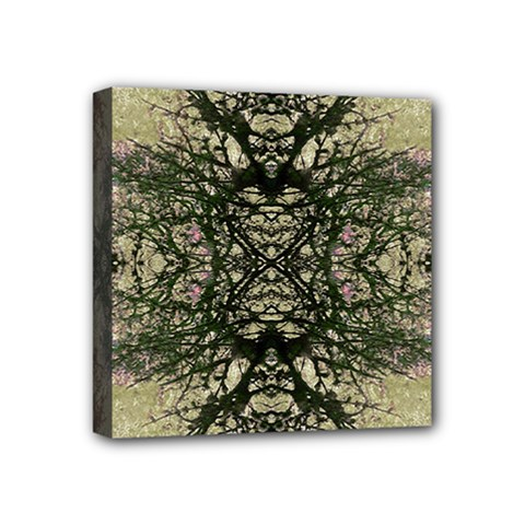 Winter Colors Collage Mini Canvas 4  X 4  (framed) by dflcprints
