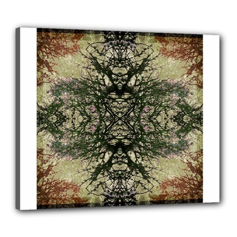 Winter Colors Collage Canvas 24  X 20  (framed) by dflcprints