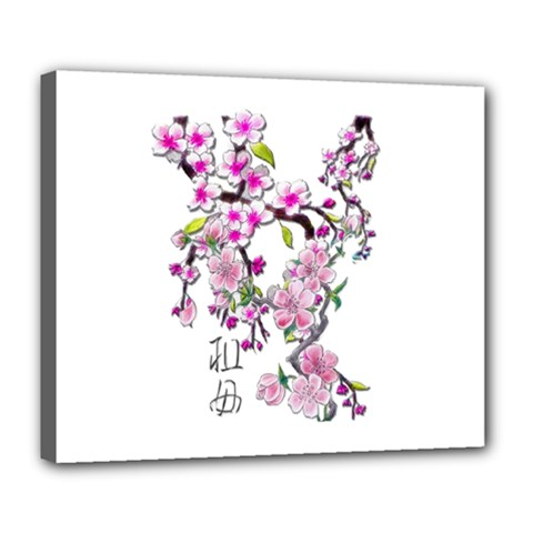 Cherry Bloom Spring Deluxe Canvas 24  X 20  (framed) by TheWowFactor