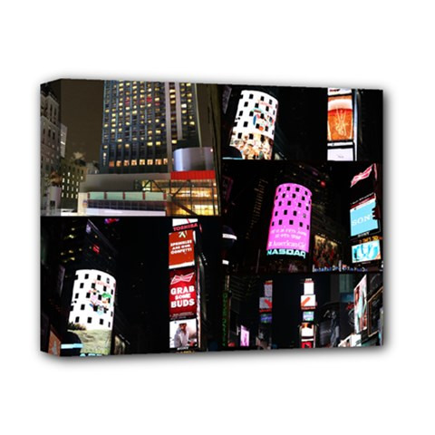 New York City at Night Deluxe Canvas 14  x 11  (Framed) by stineshop