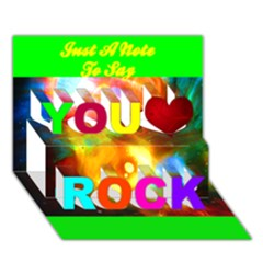 xping through beholding You Rock 3D Greeting Card (7x5) by saprillika