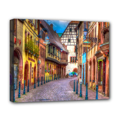 Alsace France Deluxe Canvas 20  x 16  (Framed) by StuffOrSomething