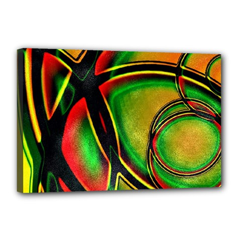 Multicolored Modern Abstract Design Canvas 18  X 12  (framed) by dflcprints