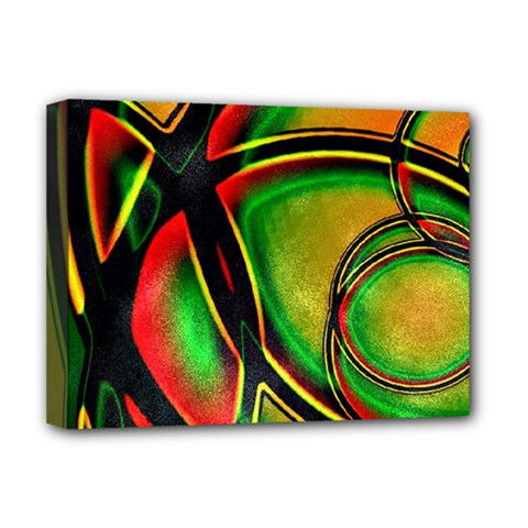 Multicolored Modern Abstract Design Deluxe Canvas 16  X 12  (framed)  by dflcprints