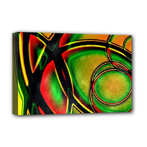 Multicolored Modern Abstract Design Deluxe Canvas 18  X 12  (framed)