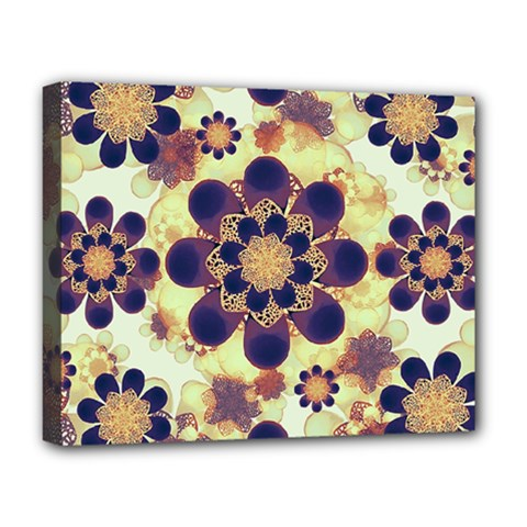 Luxury Decorative Symbols  Deluxe Canvas 20  X 16  (framed) by dflcprints