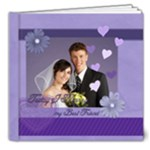 Wedding purple Book - 8x8 Deluxe Photo Book (20 pages)