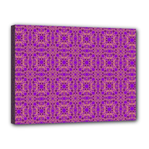 Purple Moroccan Pattern Canvas 16  X 12  (framed) by SaraThePixelPixie
