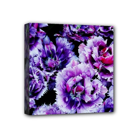 Purple Wildflowers Of Hope Mini Canvas 4  X 4  (framed) by FunWithFibro