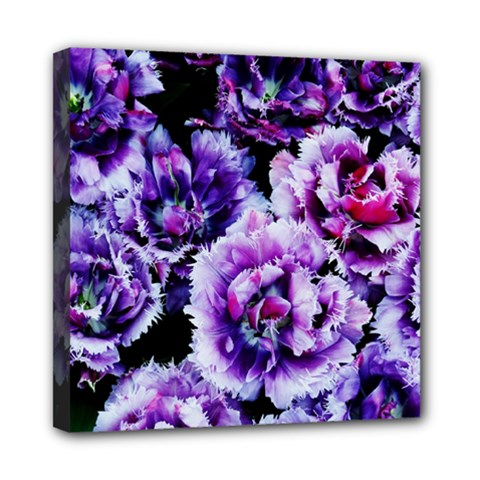 Purple Wildflowers Of Hope Mini Canvas 8  X 8  (framed) by FunWithFibro
