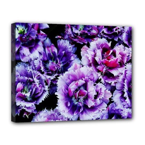 Purple Wildflowers Of Hope Canvas 14  X 11  (framed) by FunWithFibro
