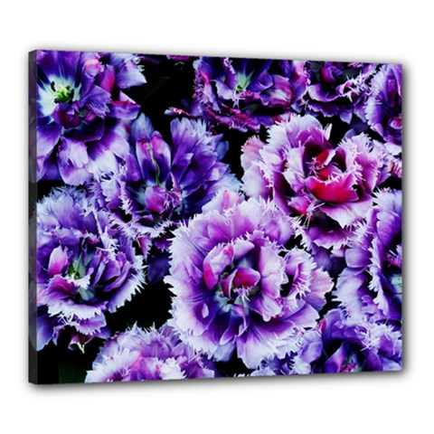 Purple Wildflowers Of Hope Canvas 24  X 20  (framed) by FunWithFibro