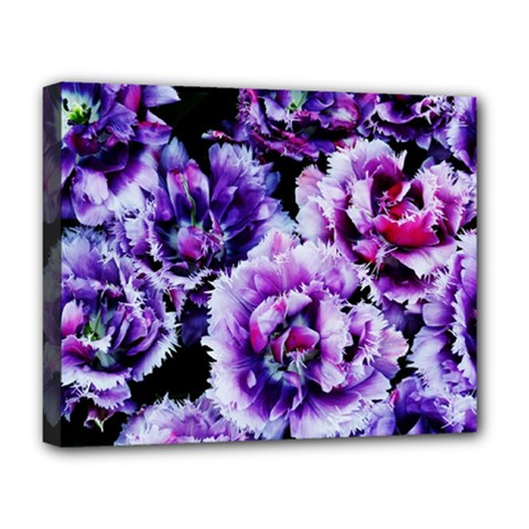 Purple Wildflowers Of Hope Deluxe Canvas 20  X 16  (framed) by FunWithFibro