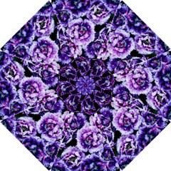 Purple Wildflowers Of Hope Hook Handle Umbrella (large) by FunWithFibro