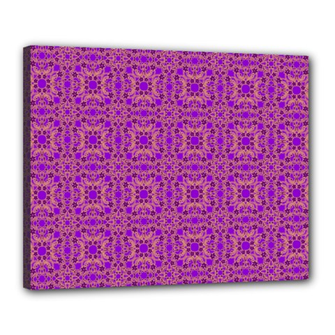 Purple Moroccan Pattern Canvas 20  x 16  (Framed) by SaraThePixelPixie