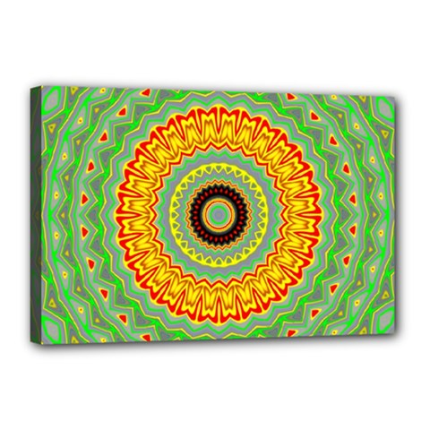 Mandala Canvas 18  X 12  (framed) by Siebenhuehner