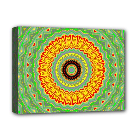 Mandala Deluxe Canvas 16  X 12  (framed)  by Siebenhuehner