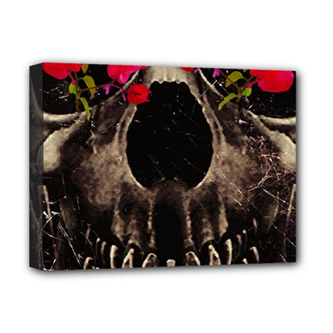 Death And Flowers Deluxe Canvas 16  X 12  (framed)  by dflcprints