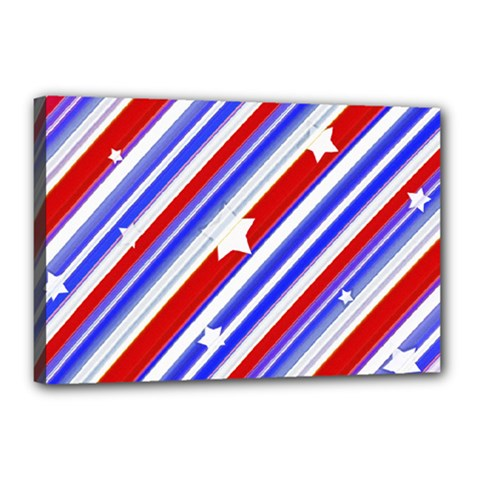 American Motif Canvas 18  X 12  (framed) by dflcprints