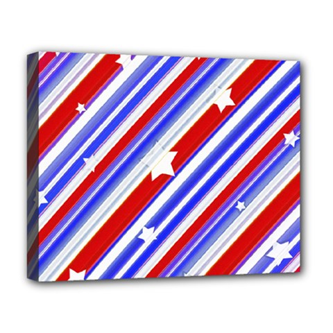 American Motif Deluxe Canvas 20  X 16  (framed) by dflcprints