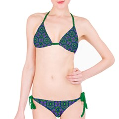Retro Flower Pattern  Bikini