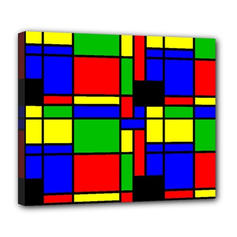 Mondrian Deluxe Canvas 24  X 20  (framed) by Siebenhuehner