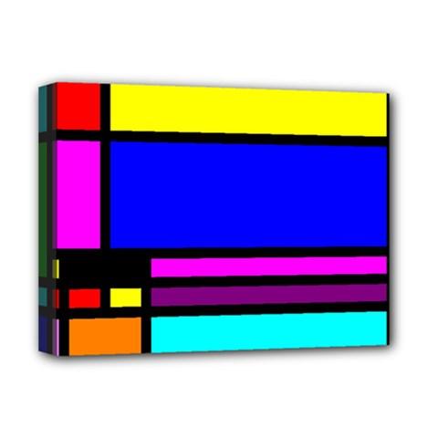 Mondrian Deluxe Canvas 16  X 12  (framed)  by Siebenhuehner