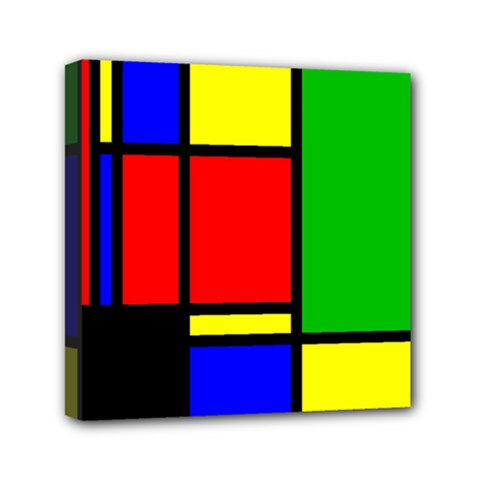 Mondrian Mini Canvas 6  X 6  (framed) by Siebenhuehner