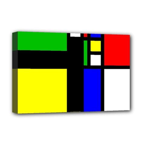 Abstrakt Deluxe Canvas 18  X 12  (framed) by Siebenhuehner