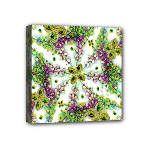 Neo Noveau Style Background Pattern Mini Canvas 4  X 4  (framed) by dflcprints